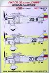 1-72-Decals-Fiat-CR-32-CHIRRI-Venezuelan-Service