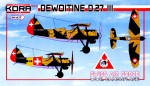 1-72-Dewoitine-D-27-III-Swiss-AF-WWII-Camouflage