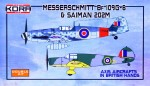 1-72-Bf-109G-6-and-Saiman-202M-in-British-Hands-2-in-1
