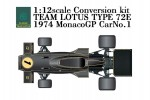 1-12-Team-Lotus-Type-72E-Rd-6-1974-Monaco-Grand-Prix-1-Conversion-Kit-for-Tamiya-Lotus-72D