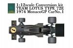 1-12-Team-Lotus-Type-72E-Rd-6-1974-Monaco-Grand-Prix-1-Conversion-Kit-for-Tamiya-Lotus-72D