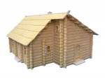 1-72-Two-storey-Log-house-with-thatch-roof