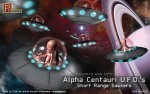 Centauri-U-F-O-Short-Range-Saucers-plus-Alien-figure-2-kits-in-the-box