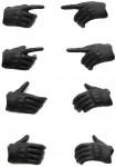 LittleArmory-OP3-figma-Tactical-Gloves-Stealth-Black-Reissue