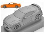 1-64-LV-N148a-Nissan-GT-R-2017-Model-Orange