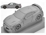 1-64-LV-N148b-Nissan-GT-R-2017-Model-Silver
