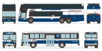 1-150-The-Bus-Collection-Chugoku-JR-Bus-Company-30th-Anniversary-Set-of-2
