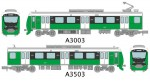 1-150-Train-Collection-Shizuoka-Railway-Type-A3000-Natural-Green-2-Cars-Set-C