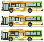 1-150-The-Bus-Collection-Toei-Bus-Fuji-Heavy-Industries-New-7E-3-Car-Set