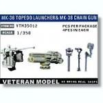 1-350-Modern-US-MK-36-Torpedo-Launcher-and-MK-38-Chain-Gun-4pcs-each