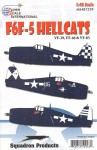 1-48-Grumman-F6F-5-HELLCAT-VF-294683-Decals-for-3-US-Navy-aircraft-during-1945
