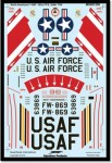 1-48-North-American-F-100F-Super-Sabre-Gabreski-Decals-for-a-single-US-Air-Force-aircraft
