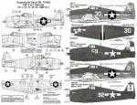 1-72-F6F-3-5-Hellcats-4-No-30-K-VF-1-USS-Yo