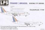 1-144-Boeing-737-300-400-TRANS-BRASIL-PT-TEA-TED-THE