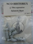 54mm-4-Heads-Russian-Infantry-MitrecapShako-Cartricge-box-bedroll-and-canteen