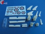 1-72-Upgrade-for-the-first-prototype-of-HAWKER-HUNTER-+-vacu-canopy-+-decal-sheet-kit