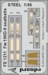 1-48-Fw-190D-9-seatbelts-STEEL