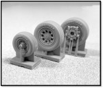1-48-Northrop-F-5E-WHEEL-SET-Resin-replacement-wheel-set-3-pieces