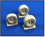 1-72-North-American-Rockwell-OV-10D-Bronco-wheel-set-Resin-replacement-wheel-set-3-pieces