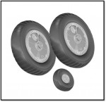 1-72-Messerschmitt-Bf-109G-WHEEL-SET-RIBBED-THREAD-WHEEL-SET