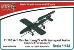 1-144-Fieseler-Fi-103-V-1-Reichenberg-IV-with-transport-trailer