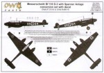 1-48-Messerschmitt-Bf-110-D-3-Spanner-Anlage-conversion-set-with-decals