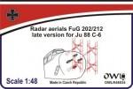 1-48-Radar-Aerials-FuG-202-FuG-212-for-Junkers-Ju-88C-6