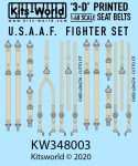 1-48-USAAF-Fighter-Seat-Belt-Set