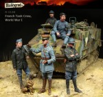 1-35-French-Tank-Crew-WWI-Big-Set-5-figures