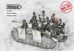 1-35-Panzer-Riders-Hungary-1945-Big-Set-13-figures-and-accessories