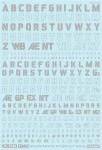 1-144-GM-Font-Decal-No-3-Military-Stencil-and-Line-Shape-Alphabet-Light-Gray