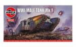 1-76-WWI-Male-Tank-Mk-I