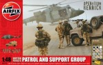 RARE-1-48-British-Forces-Patrol-and-Support-Group-Westland-Lyx-Landrover-and-Figures