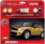 1-32-BMW-Mini-Cooper-S-Starter-Set-includes-Acrylic-paints-brushes-and-poly-cement