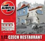 1-76-Czech-Restaurant-READY-BUILT-UNPAINTED-RESIN-BUILDINGS