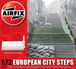 1-76-European-City-Steps-READY-BUILT-UNPAINTED-RESIN-BUILDINGS