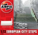 1-76-European-City-Steps-READY-BUILT-UNPAINTED-RESIN-BUILDINGS