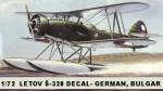 1-72-Letov-S-328-DECAL-German-Bulgar