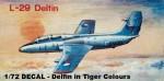1-72-L-29-DECAL-Delfin-in-Tiger-Colours