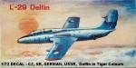1-72-L-29-DECAL-CZ-SR-GERMAN-USSR-Delfin-in-Tiger-Colours