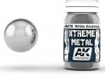 XTREME-METAL-WHITE-ALUMINIUM-30ml-kovova-hlinikova-bila-ENAMEL