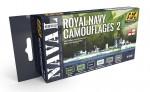 ROYAL-NAVY-CAMOUFLAGES-2-NAVAL-SERIES-SET-akryl-6x17ml