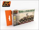 IRAQ-AND-AFGHANISTAN-6x17ml-akrylove-barvy-na-soucasna-vozidla-US-Nemecko-GB-a-Irak