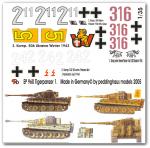 1-35-4-verschiedene-Tiger-I-Satz-No-1