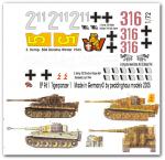 1-72-4-verschiedene-Tiger-I-Panzer-Satz-No-1