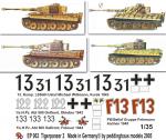 1-35-4-verschiedene-Tiger-I-Satz-No-2