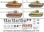 1-72-4-verschiedene-Tiger-I-Satz-No-2