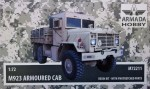 1-72-M923-Armoured-Cab-resin-kit-and-PE-parts