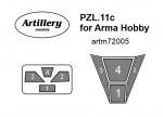 1-72-Masks-for-PZL-11c-ARMA-HOBBY