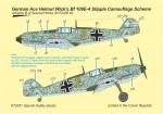 1-72-Decal-German-Ace-H-Wick-Bf-109E-4-Stipple